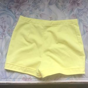 Pants - Vintage high waisted yellow shorts